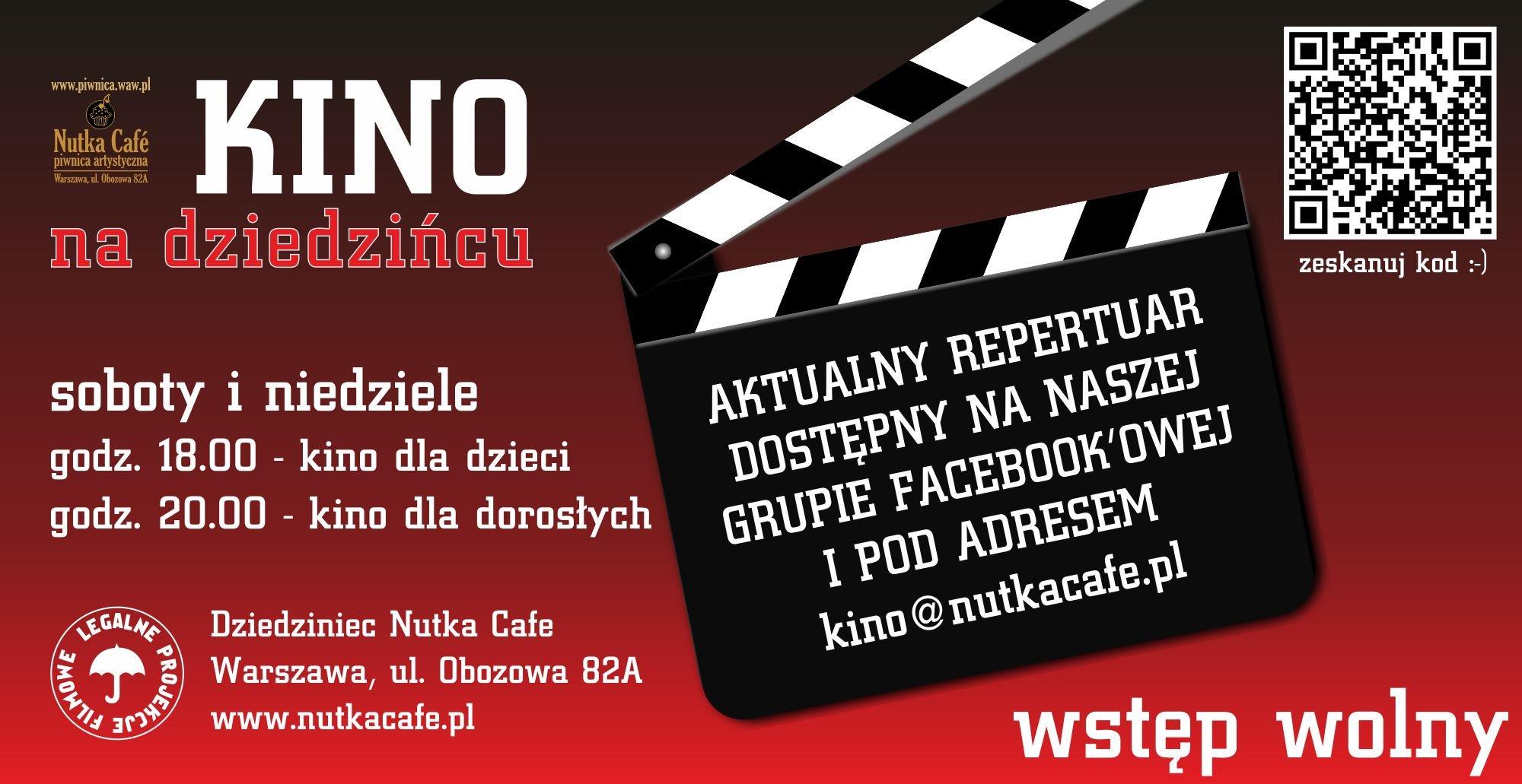 Kino na Dziedzińcu dla dzieci i dorosłych - bezpłatnie