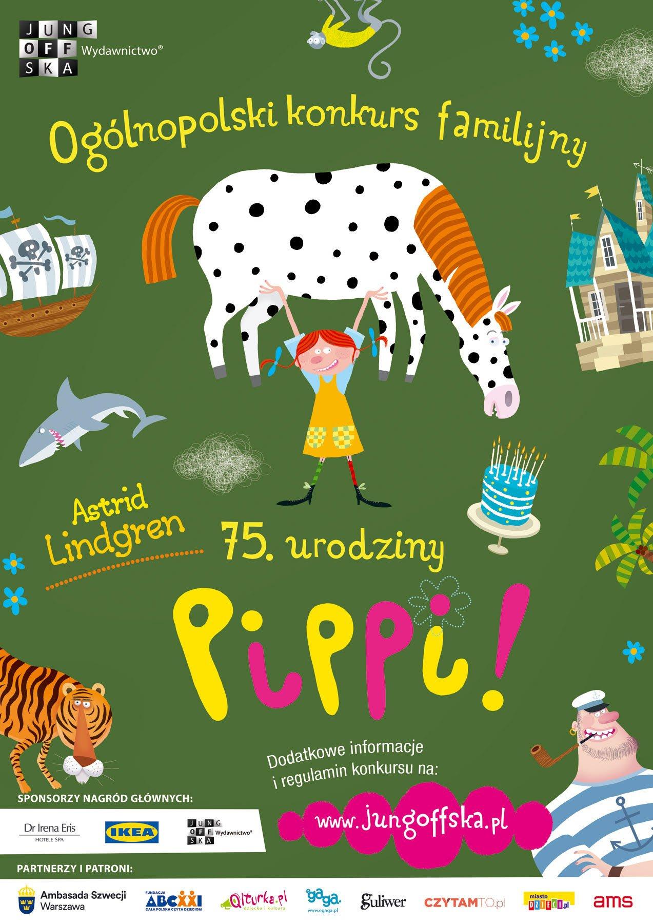 Konkurs familijny: 75. Urodziny, czyli Lato z Pippi