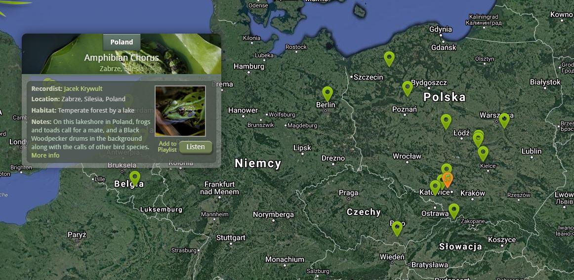 polska mapa dźwięków