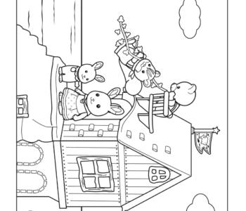 Domek króliczków z Sylvanian Families