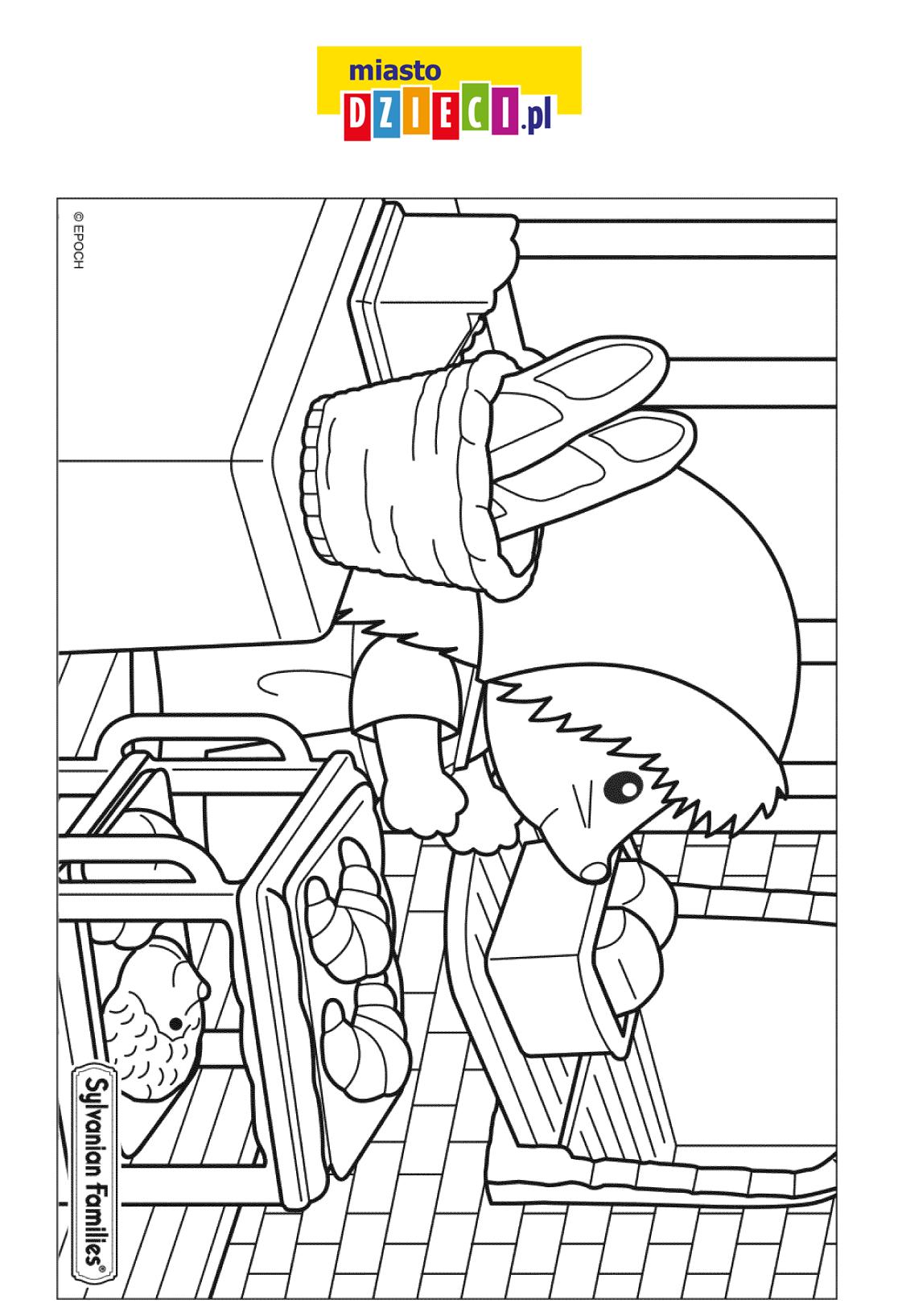 Jeżyk z Sylvanian Families - kolorowanka do druku