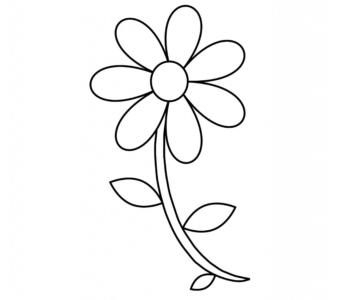 kolorowanka kwiatek do druku malowanki z kwiatami