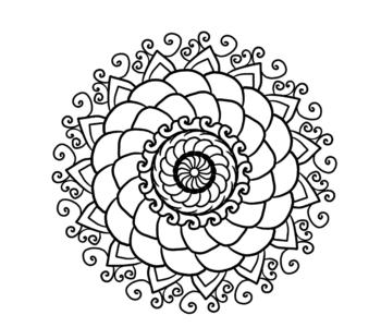 kolorowanka antystresowa mandala