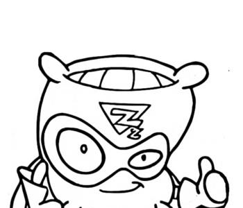 SuperSoft - poduszka SuperZings - kolorowanka