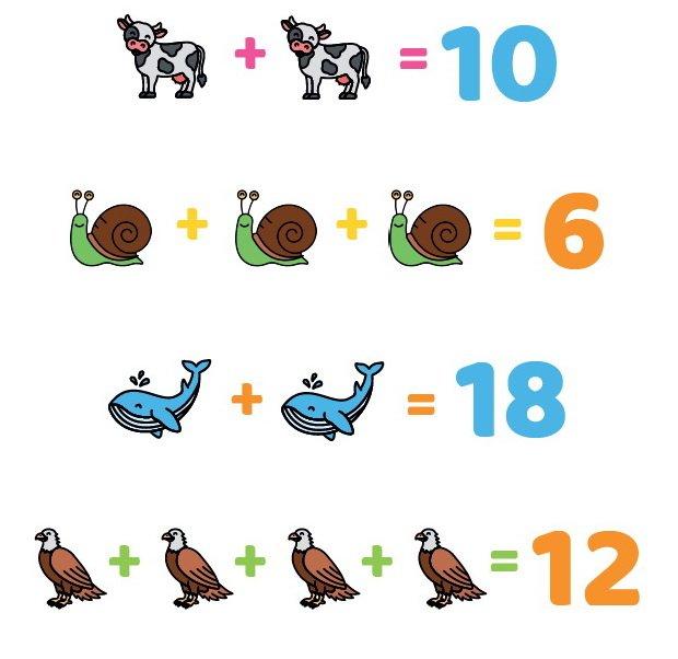 Zagadki obrazkowe ukryte liczby