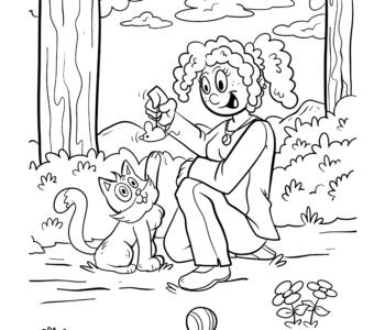kolorowanka-zabawa z kotkiem