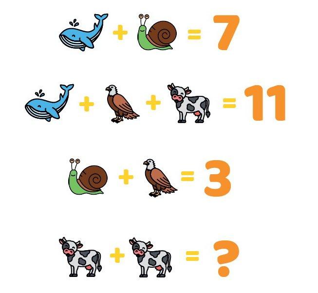 matematyczne zagadki obrazkowe dla dzieci