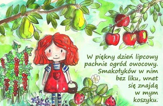 Owocowy ogród bajka o owocach do słuchania i czytania