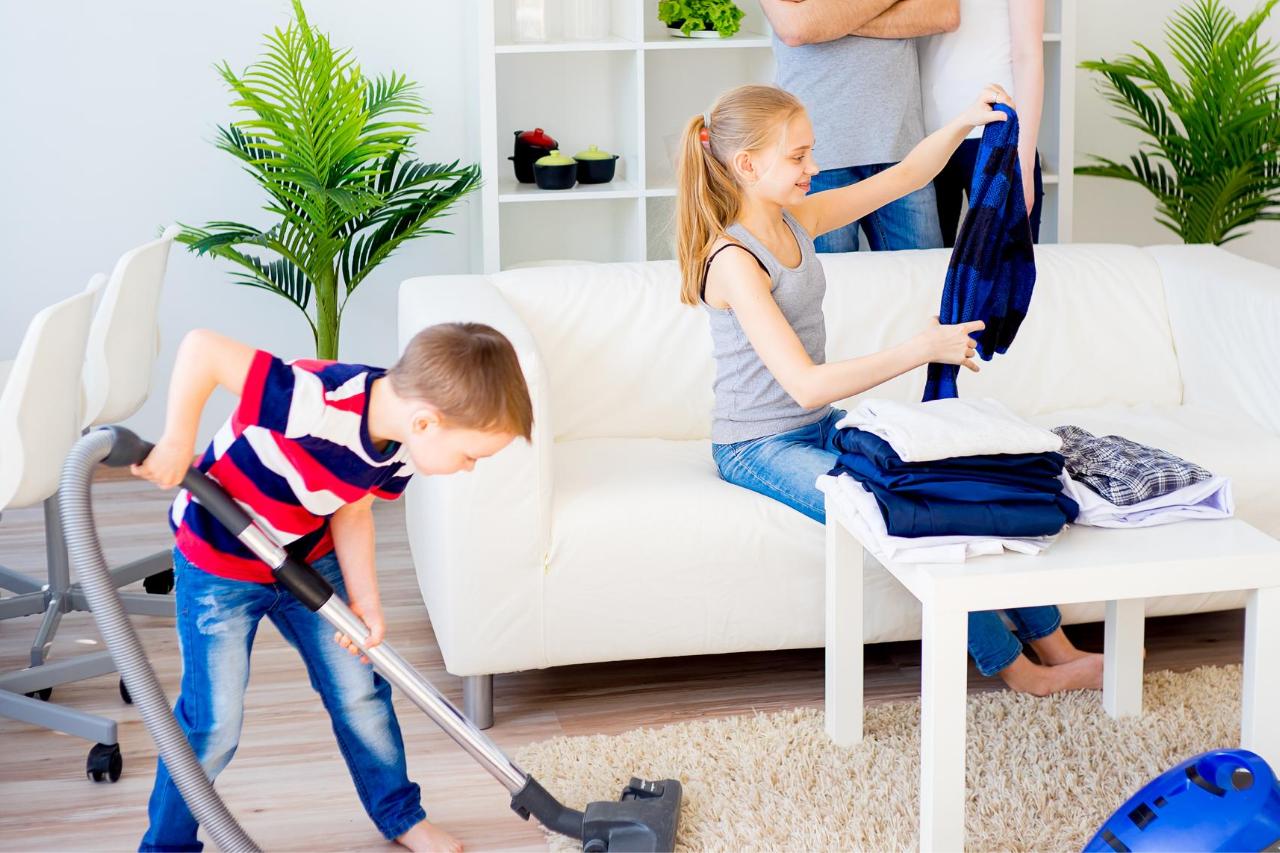 Dzieci obowiązki domowe