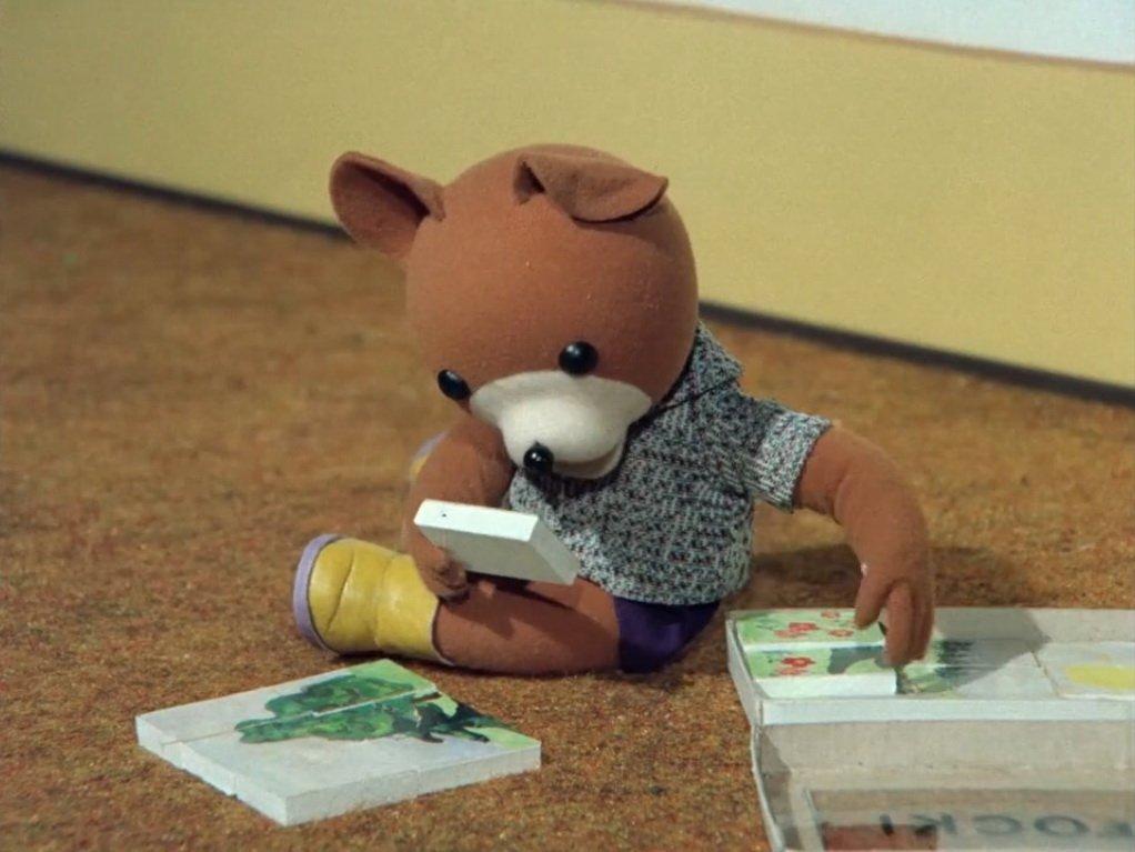 Miś Uszatek bajka online dla dzieci obejrzyj dawne dobranocki za darmo