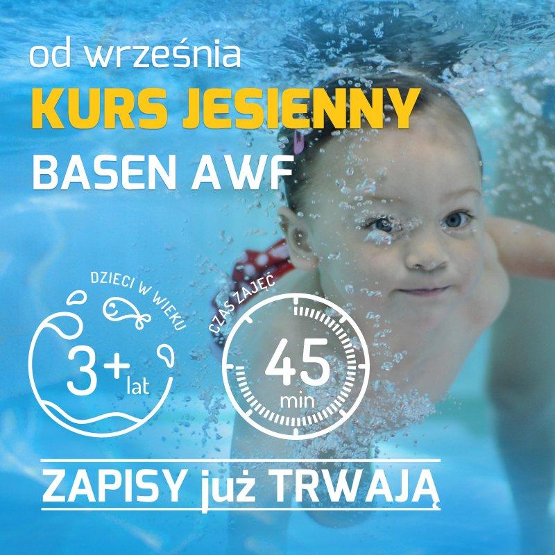 Zapisy na zajęcia pływania dla dzieci 3+ na basenie AWF