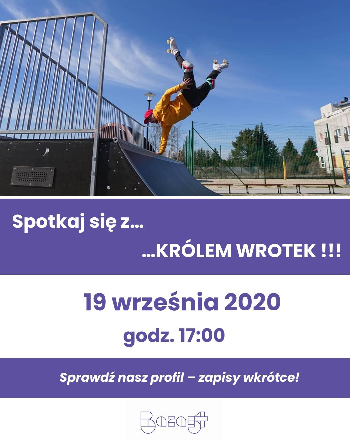 Król Wrotek w Krakowie - warsztaty z Knopersikiem na skateparku Baza54