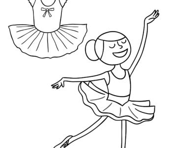 Tancerka kolorowanka do druku, malowanki dla dziewczynek do pobrania