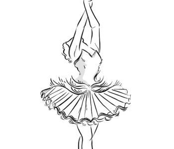 Baletnica kolorowanka do druku, malowanki online dla dziewczynek