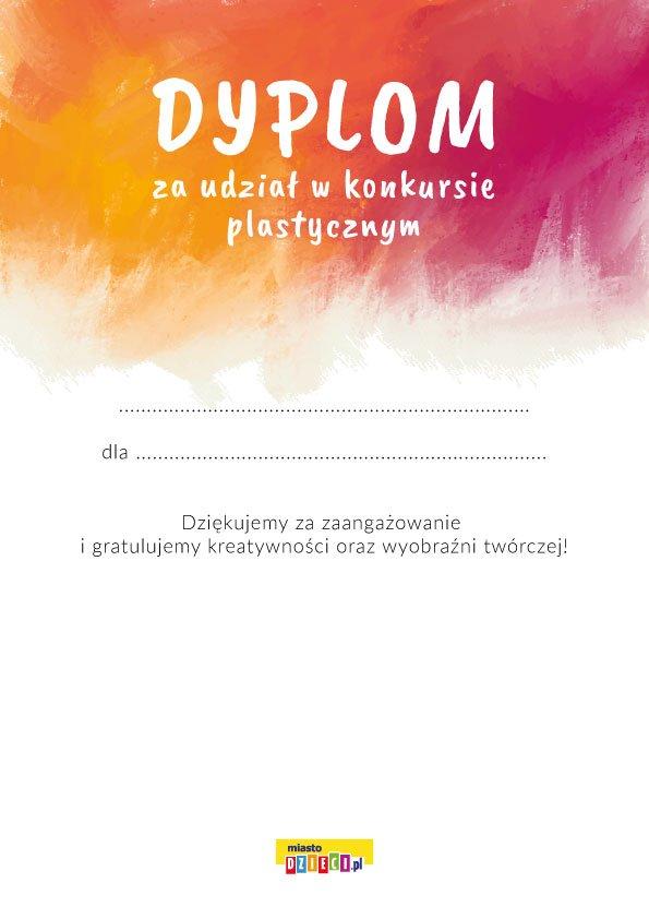 Dyplom udziału w konkursie plastycznym wzór pdf do druku gotowe dyplomy za darmo