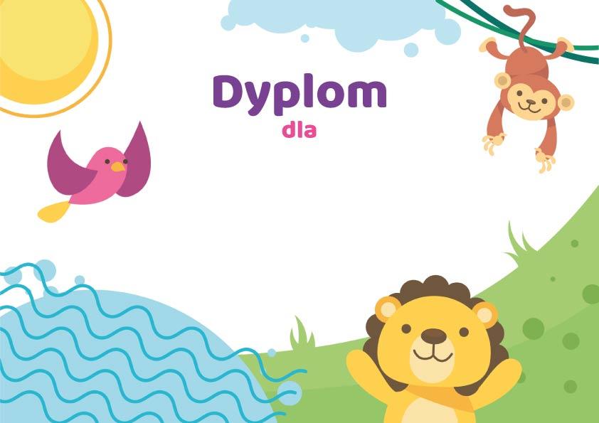 Dyplom dla szablon do pobrania pdf dyplomy dla dzieci do druku