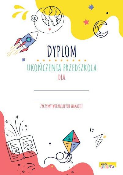 Dyplom ukończenia przedszkola do druku pdf