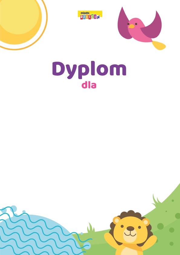 Dyplomy do druku dla dzieci, dyplomy do pobrania w pdf