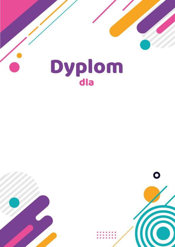 Szablony dyplomów do druku Dyplom dla pobierz w pdf