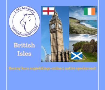 Wyspy Brytyjskie - roczny kurs angielskiego online