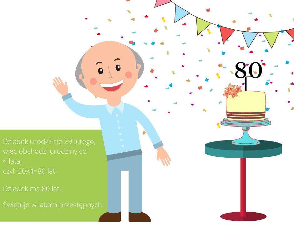 Zagadki matematyczne dla dzieci z odpowiedziami ile lat ma dziadek