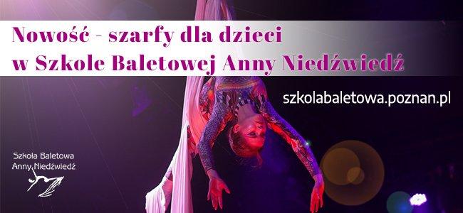 Szarfy dla dzieci w Szkole Baletowej Anny Niedźwiedź - nowość