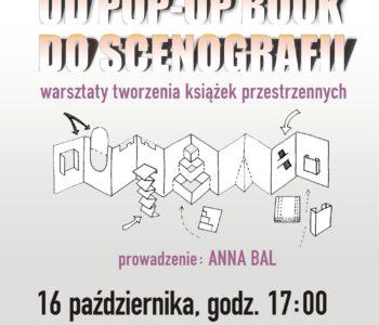 Warsztaty Od pop-up book do scenografii. Sosnowiec