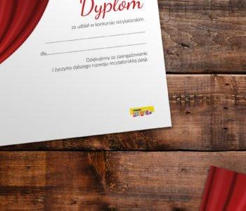 Dyplom udziału w konkursie recytatorskim do druku dyplomy do pobrania za darmo pdf