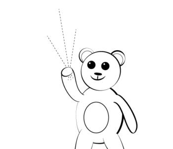Rysowanki do wydrukowania narysuj misia, bezpłatne malowanki online