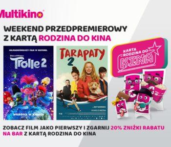 Trolle 2 i Tarapaty 2 przedpremierowo w Multikinie!