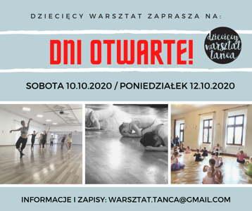 Dni otwarte w Warsztacie Tańca!