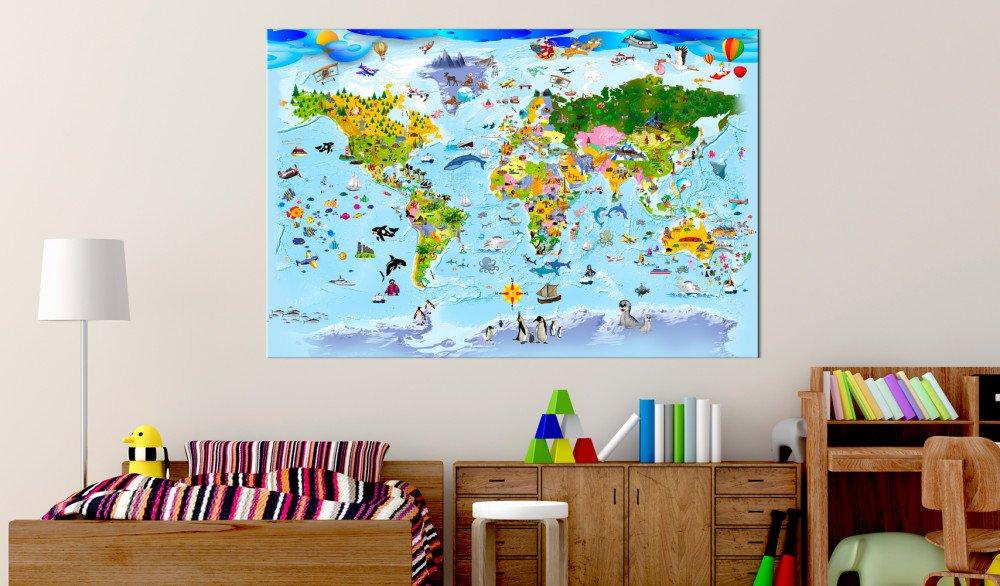 Mapy świata i miasta na obrazach – w jakich wnętrzach się sprawdzą?