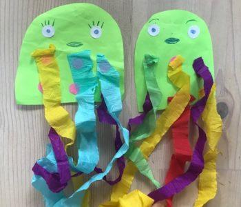 Ośmiornica a papieru jak zrobić, zabawy dla dzieci w domu i przedszkolu