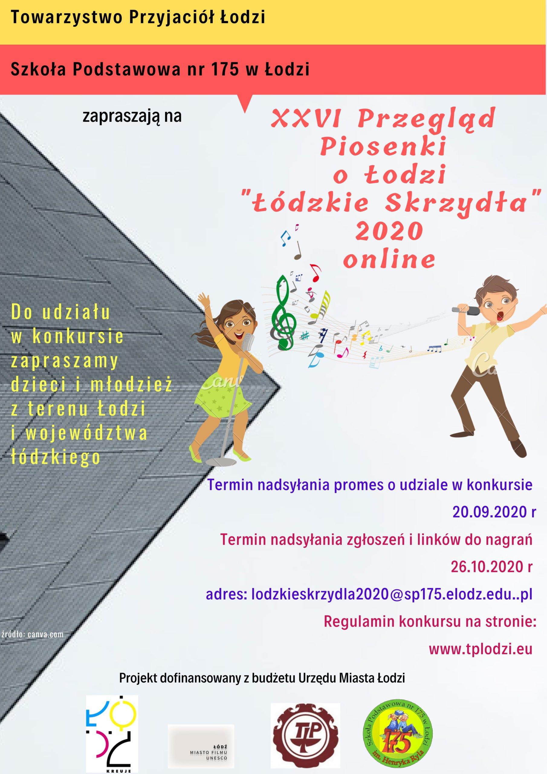 XXVI Przegląd Piosenki o Łodzi: Łódzkie Skrzydła 2020 online