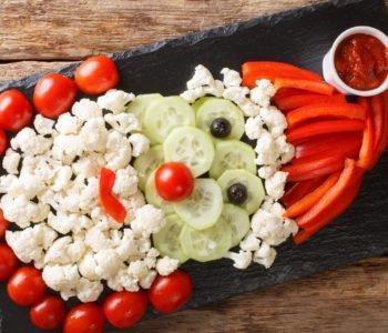 Śmieszne przepisy dla dzieci na Boże Narodzenie Mikołaj z warzyw