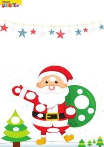 Karta pracy do wyklejania plasteliną Boże Narodzenie Mikołaj