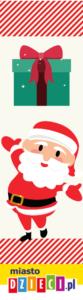 Zakładka do książki z Mikołajem do druku za darmo, Zakładki na Boże Narodzenie