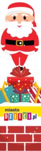 Boe Narodzenie zakładki do druku z Mikołajem bezpłatne