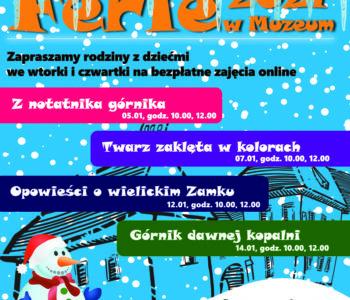 Wieliczka:Ferie w Muzeum– bezpłatne i online