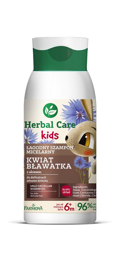 Herbal Car Kids – Łagodny szampon micelarny, Kwiat blawatka 300 ml