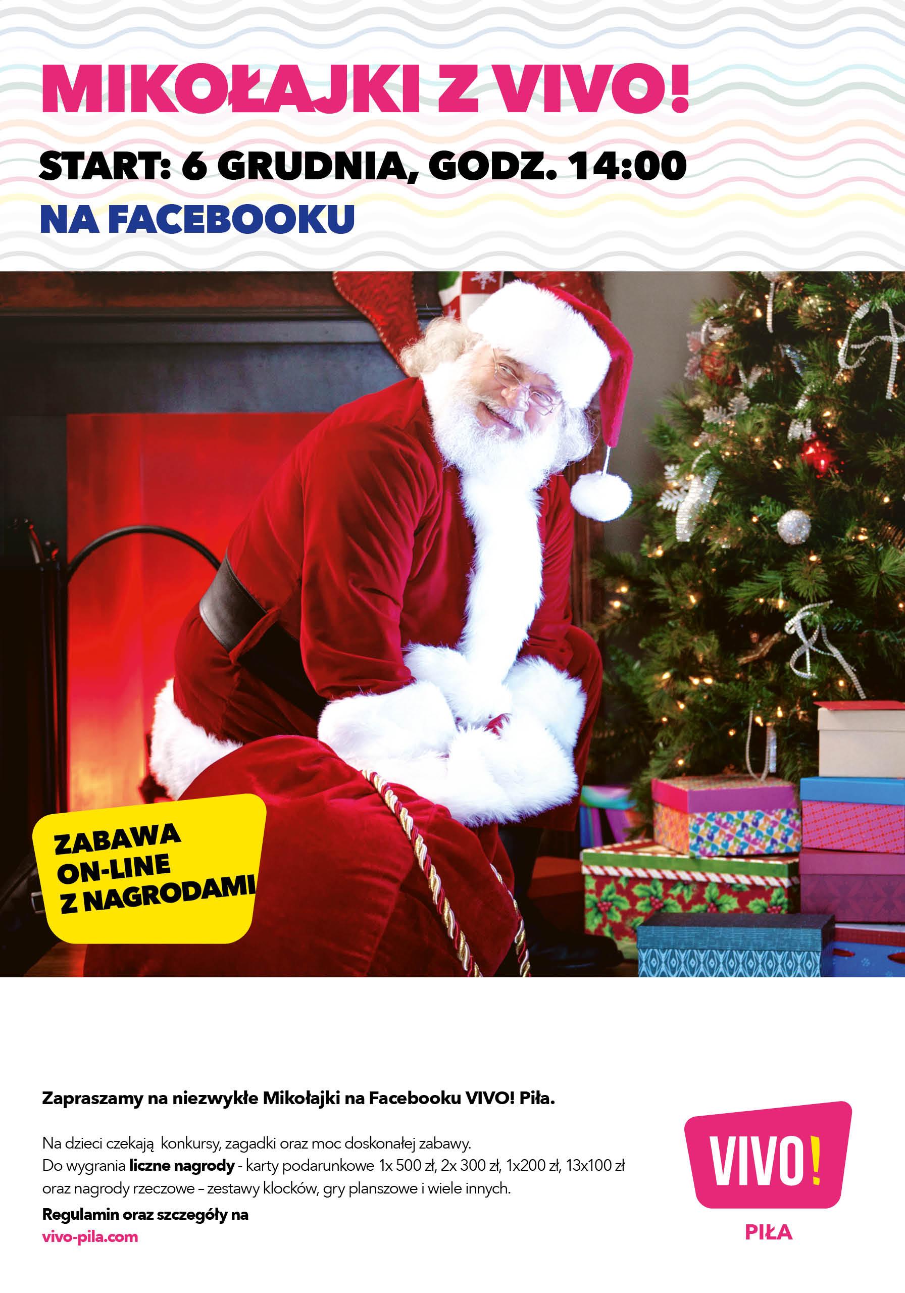 VIVO! Piła rozdaje prezenty podczas mikołajkowej transmisji na Facebooku