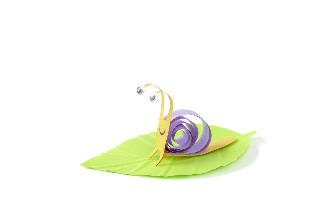 Ślimak z papieru jak zrobić, DIY dla dzieci
