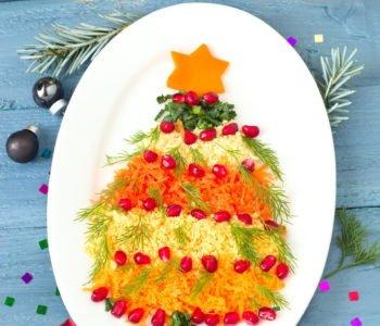 Świąteczne przepisy dla dzieci sałatka choinka