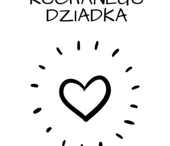 Prezent na Dzień Dziadka DIY dla dzieci zakładki do książki kolorowanka