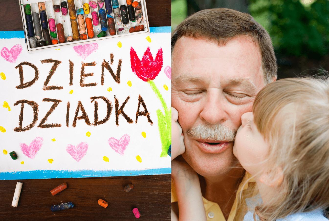 Zakładki dla dziadka DIY dla dzieci upominki na Dzień Dziadka zakładki do książek do druku