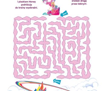 Labirynt Chelsea i Barbie – Barbie Dreamtopia POLSAT JimJam – karta pracy