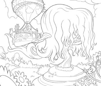 Chelsea z krainie DługowłosychBarbie Dreamtopia-kolorowanka