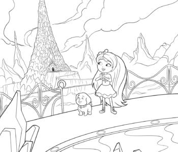 Chelsea i Honey w krainie Klejnotów Barbie Dreamtopia-kolorowanka
