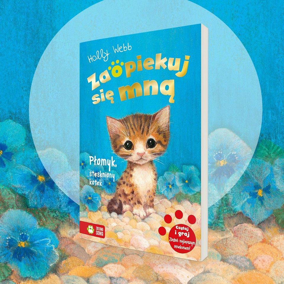 Książka z serii Zaopiekuj się mną: Płomyk, stęskniony kotek