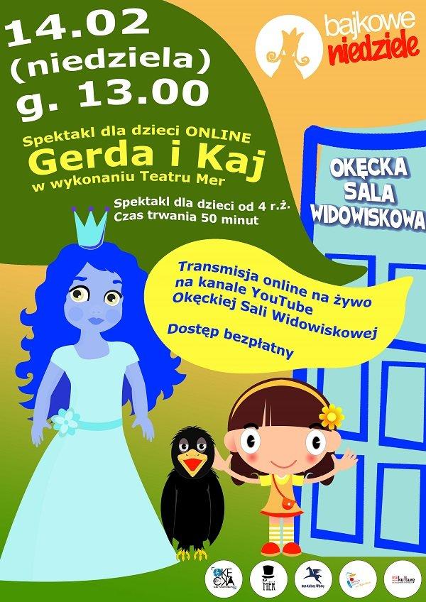 Spektakl dla dzieci ONLINE: Gerda i Kaj Teatru Mer